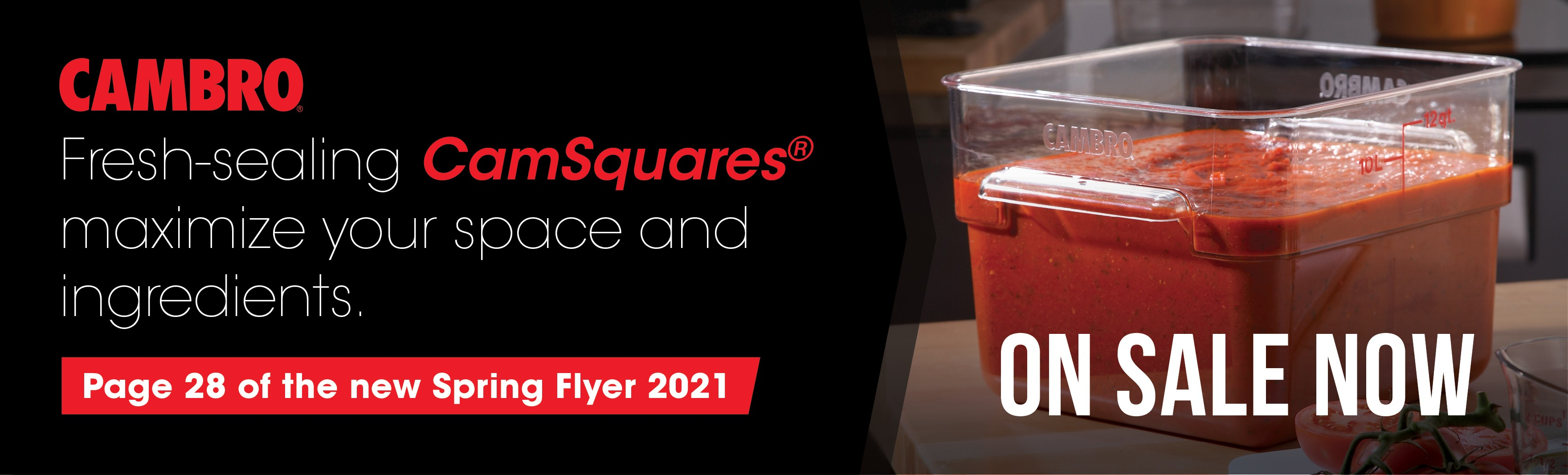 Cambro CamSquares in the 2021 Spring Flyer!