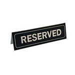 "Johnson-Rose® ""Reserved"" Table Sign - 80050"