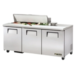 "True Refrigerated Sandwich Salad Unit - 72"", 12 Pan - TSSU-72-12-HC"