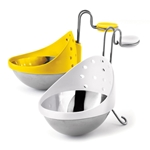 Browne® Stainless Steel Egg Poacher, Set of 2 - 747308