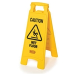 Rubbermaid® Floor Safety Sign, Yellow - FG611200YEL