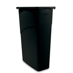 Rubbermaid® Slim Jim Waste Container, Black - FG354000BLA