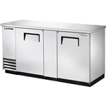 "True® Back Bar Cooler, Two-Section, Stainless Steel, 37""H - TBB-3-S"