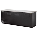 True® Back Bar Cooler, Black, 3-Door - TBB-4