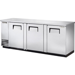 "True® Back Bar Cooler, Three-Section, Stainless Steel, 37""H - TBB-4-S-HC"