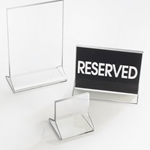 "Cal-Mil® Classic Displayettes™ Card Holder, Clear Acrylic, 4"" x 6""H - 532"