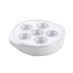 "Browne® Escargot Plate, 1.5""H x 5.3""D - 744041"