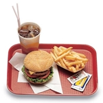 "Cambro® Fast Food Tray, Red, 10"" x 14"" - 1014FF163"