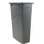 Rubbermaid® Slim Jim Container, Gray, 15 Gal - 1971258