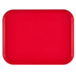 "Cambro® Fast Food Tray, Red, 14"" x 18"" - 1418FF163"