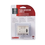 "Cambro® Store Safe Food Rotation Label Retail Blister Pack, 2"" x 3"" Label 100 Labels/Roll - 23SL"