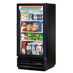 True® Glass Door Merchandiser Cooler 1 Door 10 CU FT, Black - GDM-10-LD-HC-BLK