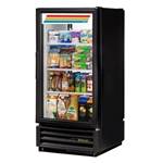 True® Glass 1 Door Pass-Through Merchandiser Cooler 10 CU FT, Black - GDM-10PT-HC-LD-BLK
