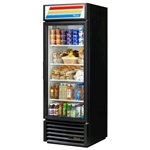 True® Glass Door Merchandiser Cooler 1 Door 23 CU FT, Black - GDM-23-HC-LD-BLK