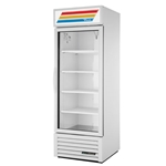True® Glass Door Merchandiser Cooler 1 Door 23 CU FT, White - GDM-23-HC-LD-WHT