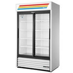 True® Glass Door Merchandising Cooler 2 Sliding Door 41 CU FT, White - GDM-41-HC-LD(WHT)