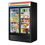 True® Glass Door Merchandising Cooler 2 Sliding Door 45 CU FT, Black - GDM-45-HC-LD(BLK)