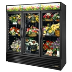 True® Glass Door Floral Case 3 Swing Door 72 CU FT - GDM-72-FC-HC-LD