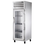 True® Glass Door Merchandising Cooler 1 Door 31 CU FT, Stainless Steel - STR1R-1G-HC