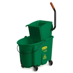 Rubbermaid® Colour-Coded WaveBrake Side Press Combo, Green - FG758888GRN