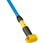 "Rubbermaid® Gripper Clamp Style Mop Handles, Fiberglass, Blue, 60"" - FGH24600BL00"