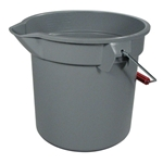 Rubbermaid® BRUTE Bucket, Gray, 13.2L - FG261400GRAY