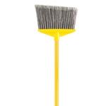 Rubbermaid® Angled Broom w/Handle, Gray - FG637500GRAY