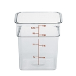 Cambro® CamSquare Camwear Container, Clear, 4 Qt - 4SFSCW135
