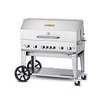 "Crown Verity® Mobile Outdoor Grill w/Roll Dome, 6-Burner, 48"", Natural Gas - MCB-48RDP-NG"