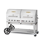 "Crown Verity® Mobile Outdoor Grill w/Roll Dome, 8-Burner, 60"", Natural Gas - MCB-60RDP-NG"