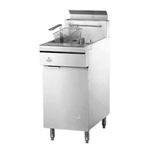 "Quest® Gas Fryer w/Casters, 36"", Natural Gas - MV40(NG)"
