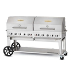 "Crown Verity® Mobile Outdoor Grill w/Roll Dome, 10-Burner, 72"", Natural Gas - MCB-72RDPNG"