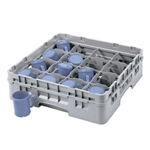 "Cambro® Camrack Glass Rack, Soft Gray, 16-Compartment, 5.25""D - 16S434151"