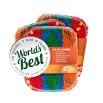 World's Best® Scrubber Pad, Assorted Pack - ITEM PACK