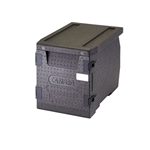 "Cambro® Cam GoBox™ Insulated Front-loading Food Pan Carrier, 300 Series, Black, 17.3"" x 18.7"" x 25.2"" - EPP300110"