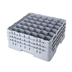 "Cambro® Camrack Customizable Glass Rack, 36 Compartment, Grey, 5 1/4"" - 36S434151"