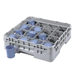 "Cambro® Camrack Glass Rack, Soft Gray, 16-Compartment, 2 5/8""D - 16C258151"