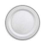 "Steelite International® Black Line Plate, 10"" (2Dz) - 11350210"