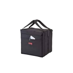 "Cambro® GoBag™ Folding Delivery Bag, Black, Medium, 12"" x 15"" x 15"" - GBD121515110"
