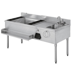 Quest® Stainless Steel Bar Sink - 136-BARST60-RH