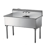 "Quest® Double Heavy Duty Stainless Steel Sinks, 24"" Sinks - 123-SE22224"