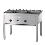 Quest® Heavy Duty Gas Stock Pot Range, Double Burner, 2 Wide - 109-QGHP2FC(NG)