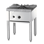 "Quest® Heavy Duty Gas Stock Pot Range, Single Burner, Natural Gas, 18"" - 109-QGHP100(NG)"