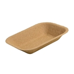 Eco-Packaging® Paper Pulp Tray, Medium, Brown (500/CS) - EP-#200