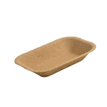 Eco-Packaging® Paper Pulp Tray, Small, Brown (1000/CS) - EP-#100