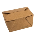 Eco-Packaging® EarthPak® Food Box / Container #1, Brown, 26 oz (450/CS) - EP#N1