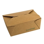 Eco-Packaging® EarthPak® Food Box / Container #8, Brown, 44 oz (300/CS) - EP#N8