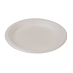 "Eco-Packaging® Compostable Sugarcane Plates, White, 9"" (500/CS) - EP-013P"