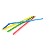 "Eco-Packaging®  Compostable Flex Straws, Assorted Colours, 8"" (7200/CS) - EP-STR8FX"