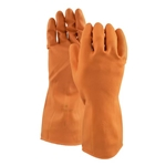 Watson Gloves® Marigold™ 30Mil Latex Gloves, Orange, Medium - 450B-M